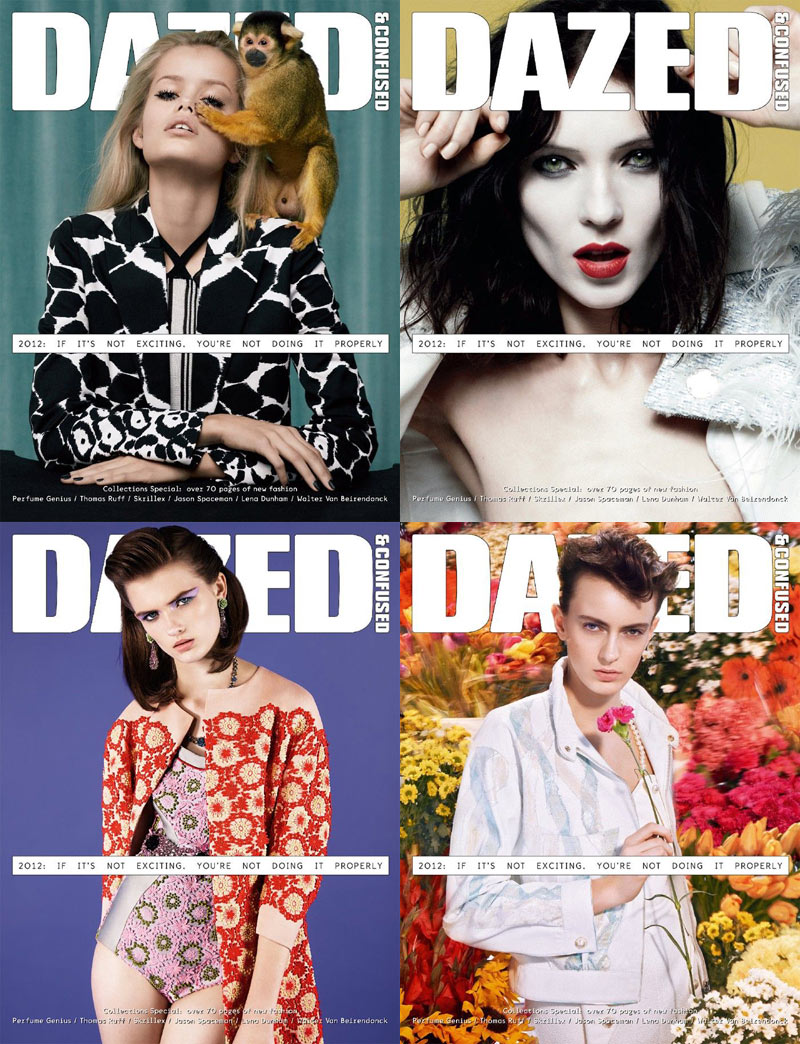 Kati Nescher, Frida Aasen, Erjona Ala & Lara Mullen Cover Dazed & Confused March 2012