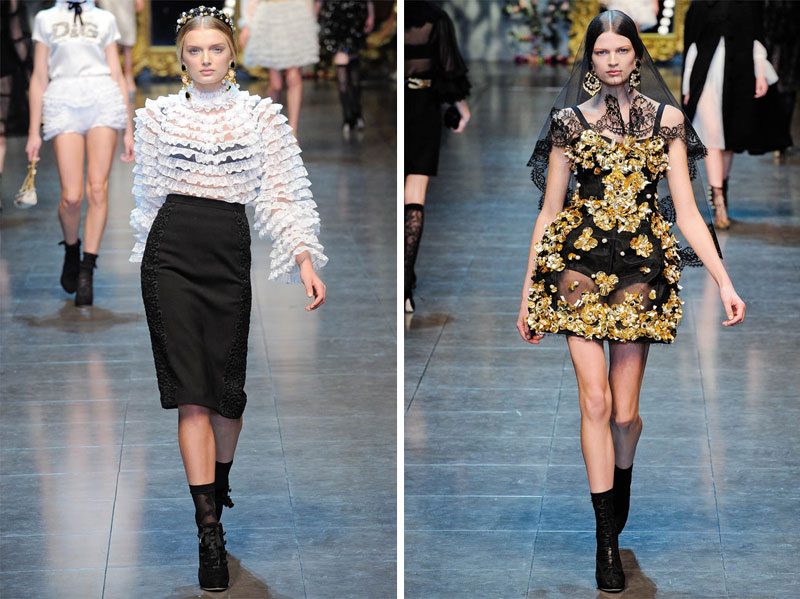 Dolce Gabbana Fall 2012 Milan Fashion Week Fashion Gone Rogue