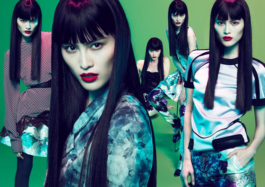 Sui He, Li Bing Bing & Chen Ran for Lane Crawford Spring 2012 Campaign by Mert & Marcus