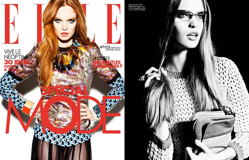 Luisa Bianchin by Hicham Riad for Elle Belgium March 2012