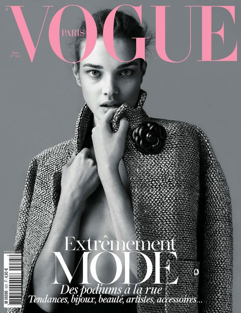 Vogue Paris March 2012 Cover | Natalia Vodianova by Mert & Marcus