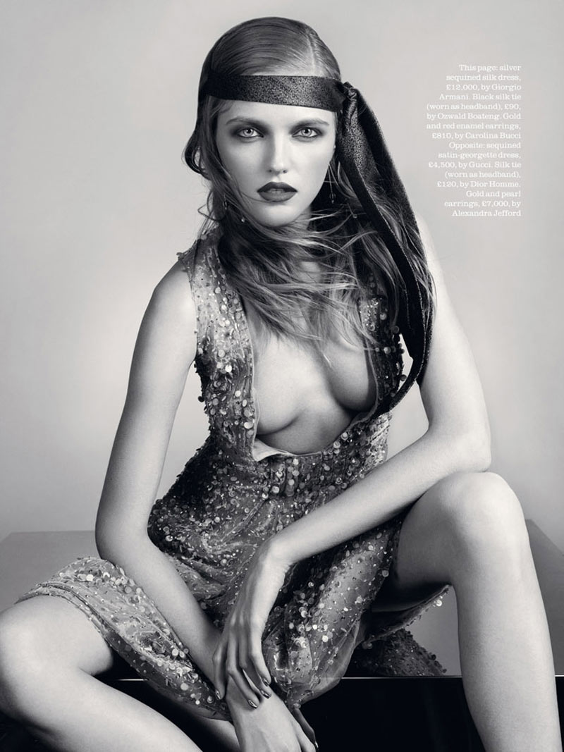 Vlada Roslyakova by David Slijper for Elle UK March 2012