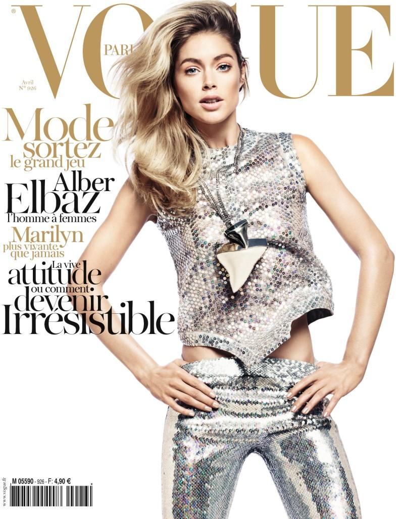 Vogue Paris April 2012 Cover | Doutzen Kroes by David Sims