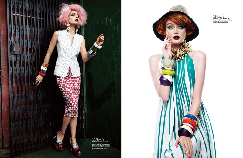 Lisa Cant & Darla Baker by Simon Upton for Harper's Bazaar Singapore April 2012