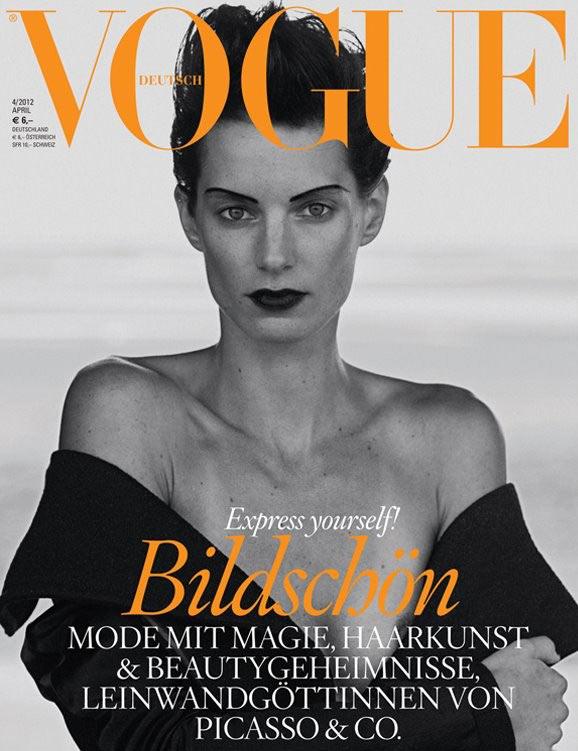Vogue Germany April 2012 Cover | Iris Strubegger by Peter Lindbergh