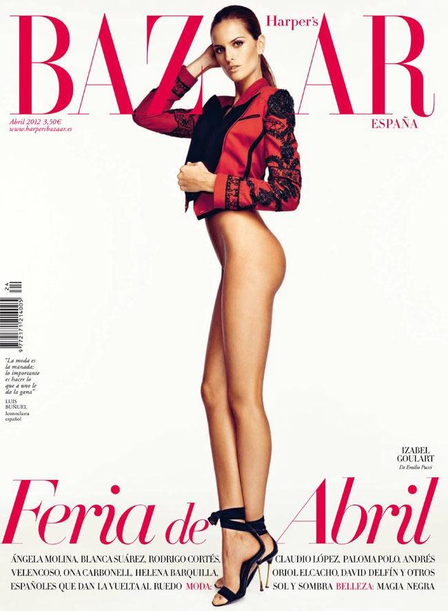 Harper's Bazaar Spain April 2012 Cover | Izabel Goulart by Nico