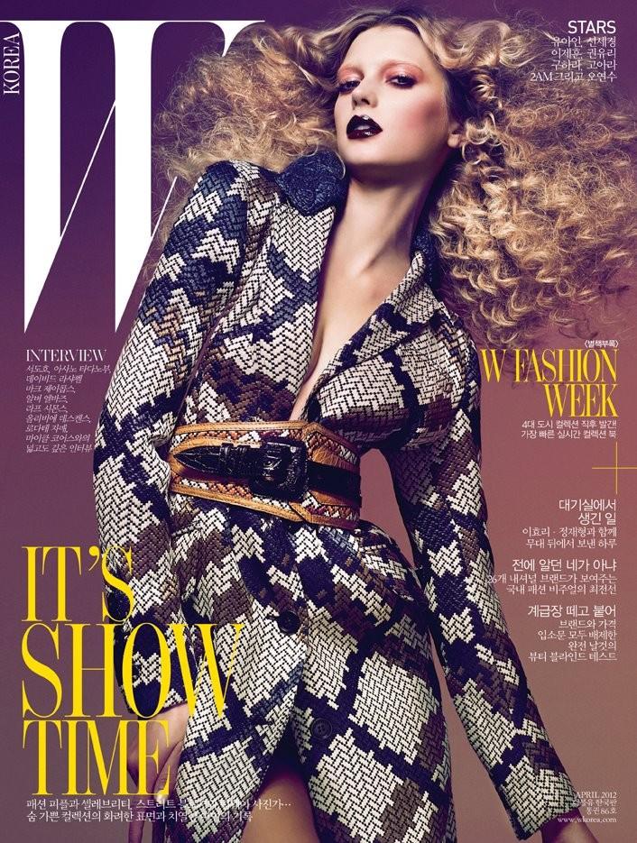 W Korea April 2012 Cover | Sigrid Agren by Dusan Reljin