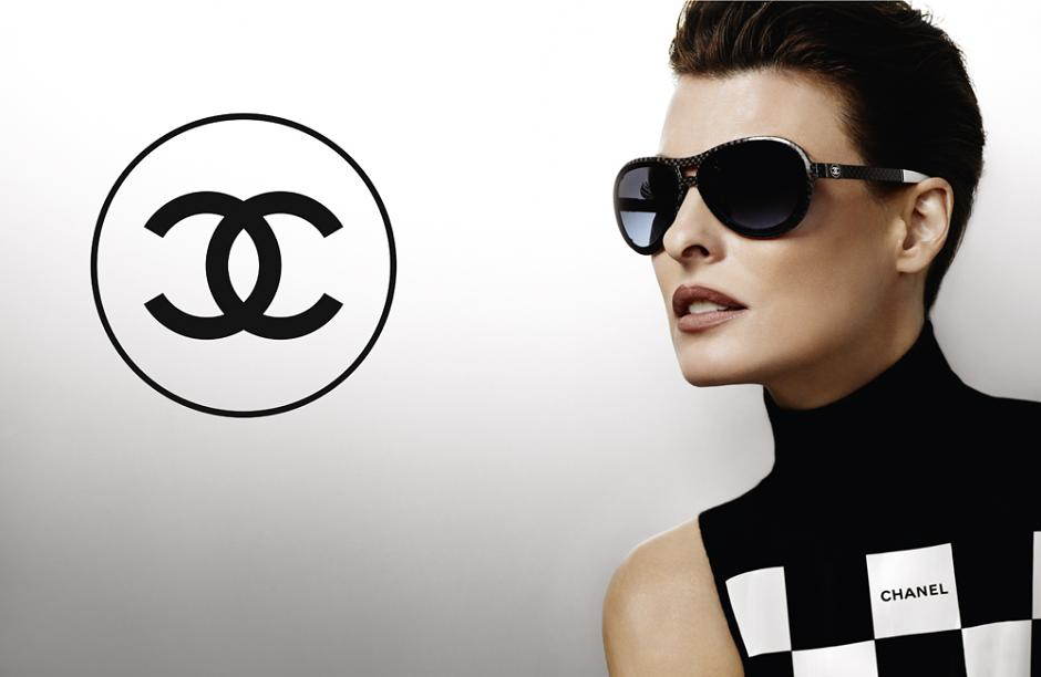 Linda Evangelista for Chanel Spring 2012 Eyewear Campaign by Karl Lagerfeld