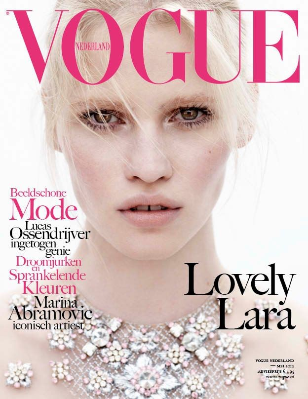 Vogue Netherlands May 2012 Cover | Lara Stone by Josh Olins