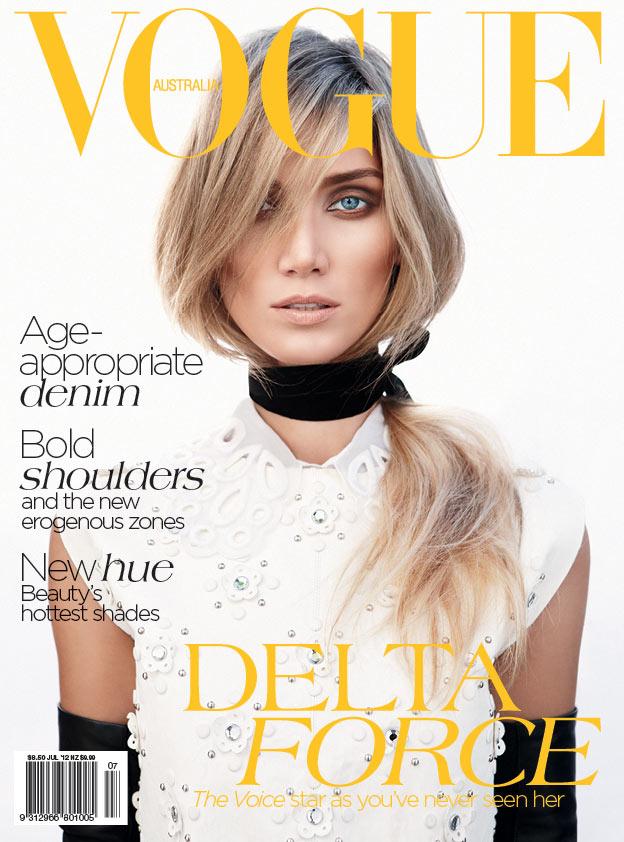 Delta Goodrem Covers Vogue Australia July 2012 in Louis Vuitton