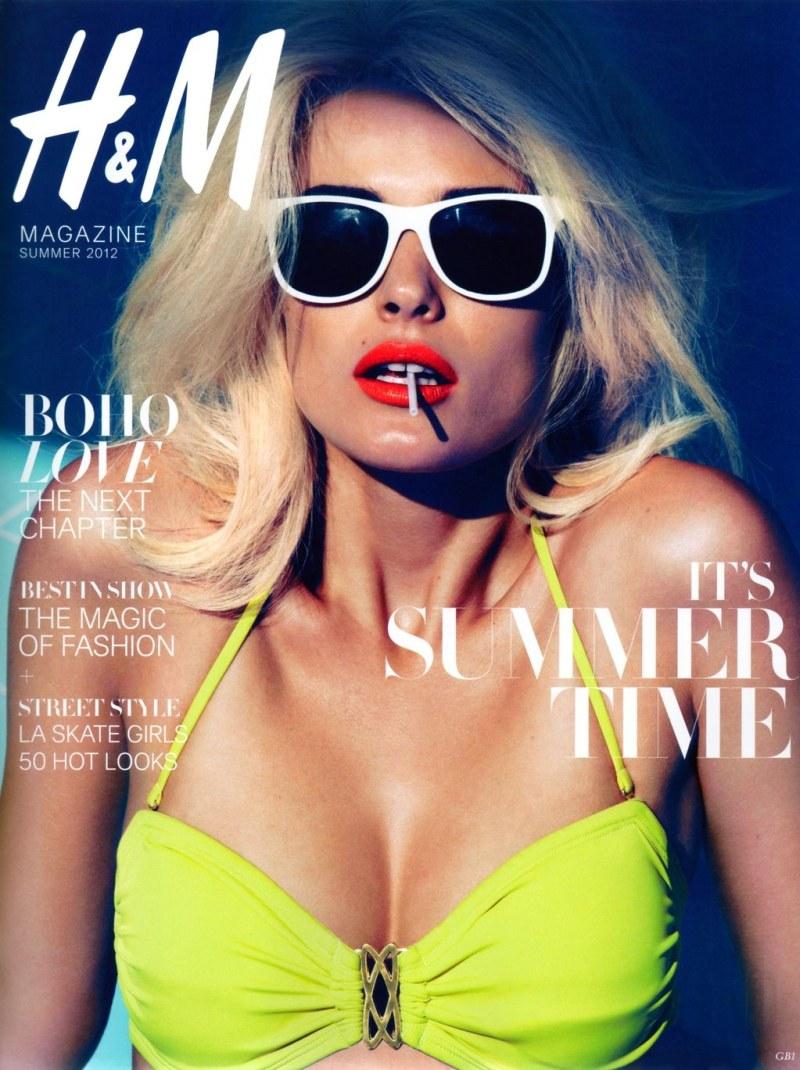 H&M Magazine Summer 2012 Cover | Edita Vilkeviciute by Camilla Akrans
