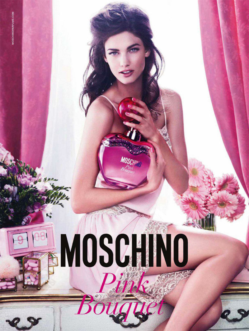 Kendra Spears is Lovely in Moschino's 'Pink Bouquet' Campaign by Giampaolo Sgura