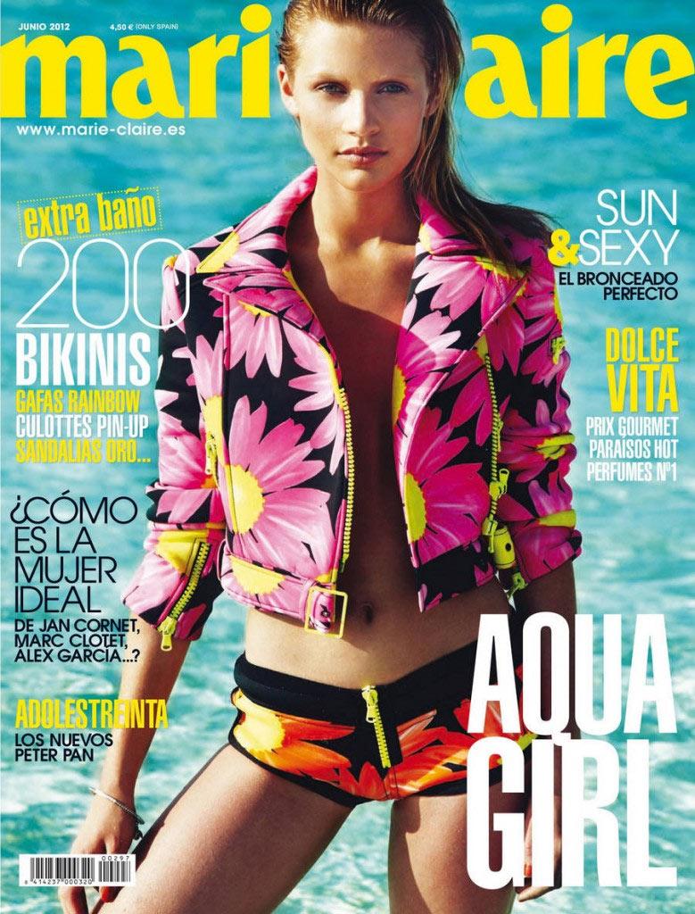 Marie Claire Spain June 2012 Cover | Caroline Corinth by Seiji Fujimori