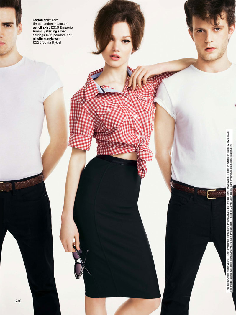 Lena Lomkova by Matthew Eades for Glamour UK June 2012