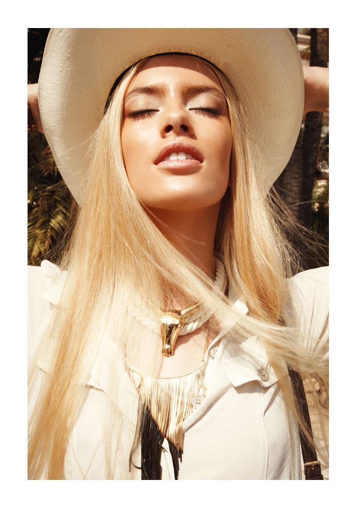 Captured by Alice Rosati, Sofya Titova is Cowgirl Glam for Gioia