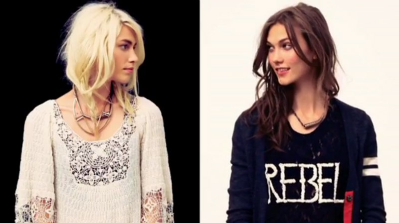 Karlie Kloss & Aline Weber Play Sides for Free People's Fall Preview