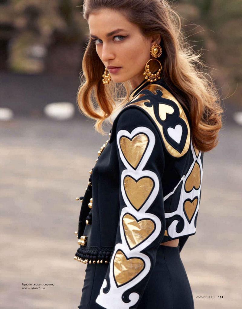 Andreea Diaconu Models Spanish Style in Asa Tallgard's Elle Russia Shoot