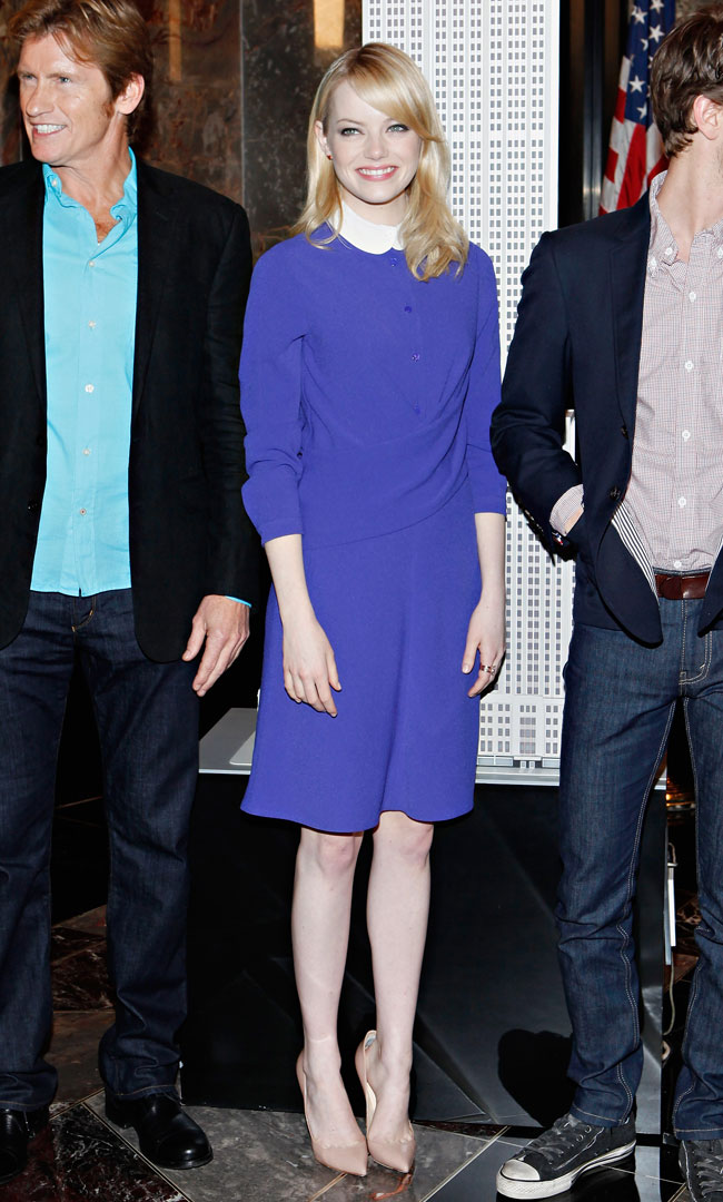 Emma Stone Looks Chic in Carven at The Empire State Building