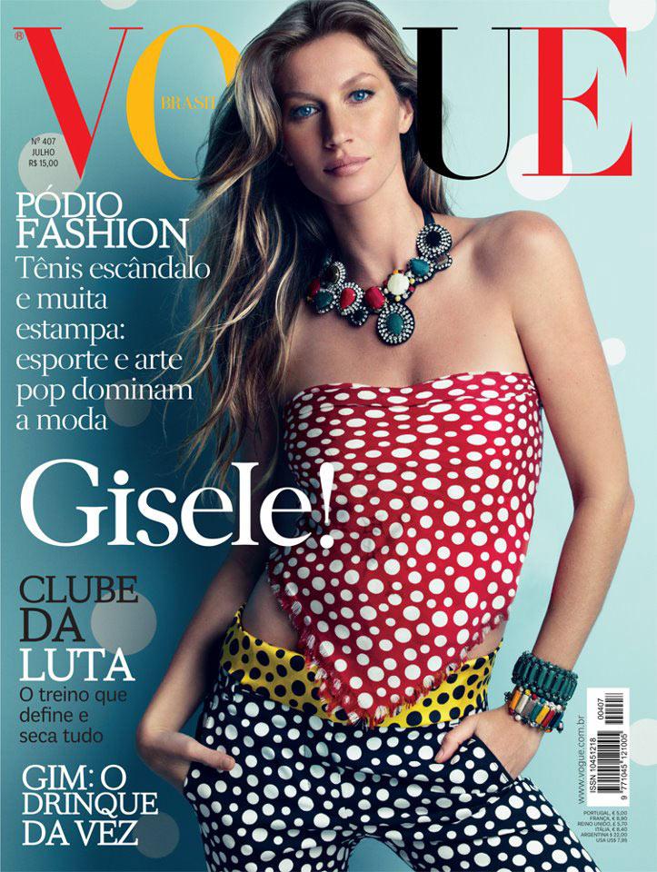 Gisele Bundchen Gets Dotty for Vogue Brazil's July 2012 Cover by Patrick Demarchelier