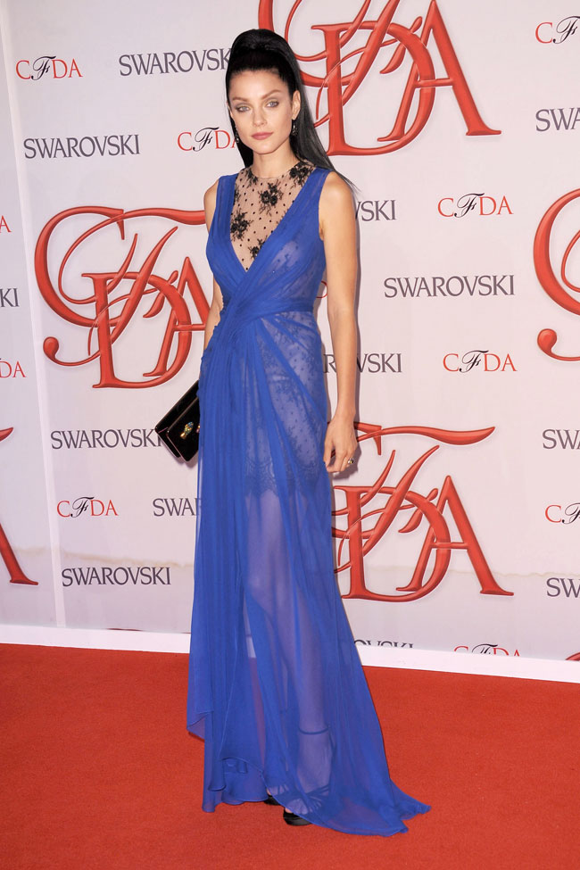 Jessica Stam Was Vampy in Jason Wu at the 2012 CFDA Fashion Awards