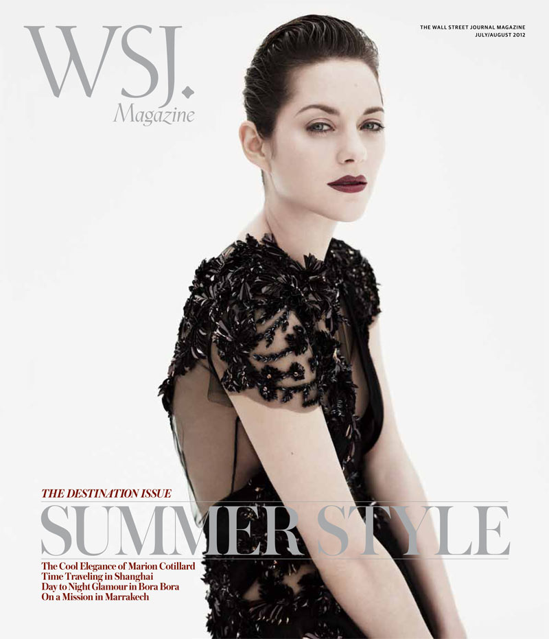 Marion Cotillard Gets Sultry for the July/August 2012 Cover of WSJ Magazine
