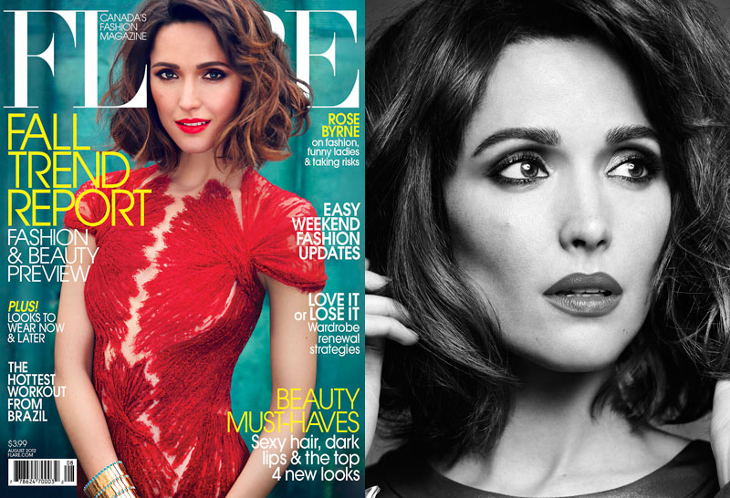 Rose Byrne is Pure Elegance in Flare's August Cover Shoot by Max Abadian