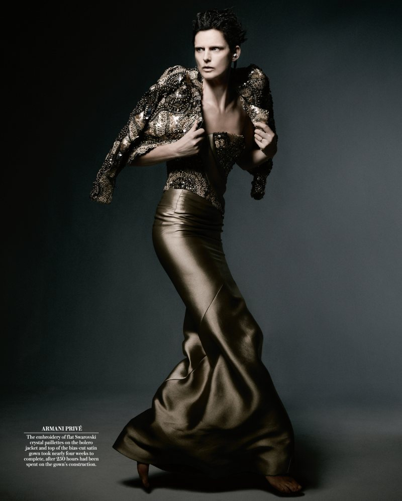 Stella Tennant Poses in Couture for WSJ Magazine, Shot by Daniel Jackson