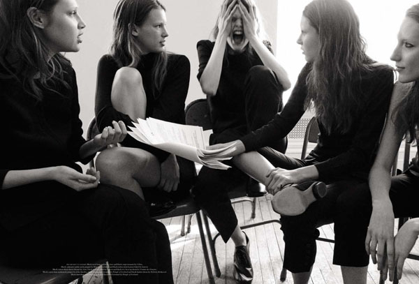 Anais Pouliot, Caroline Brasch Nielsen, Julia Saner & Others by Daniel Jackson for Acne Paper Sweden S/S 2011