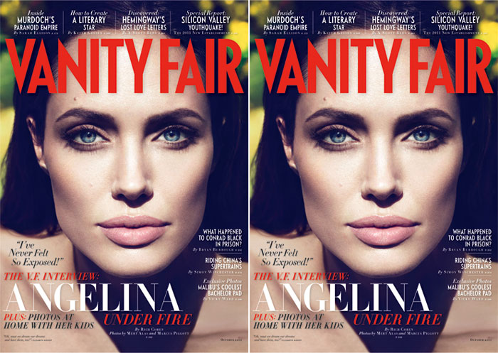 Vanity Fair October 2011 Cover | Angelina Jolie by Mert & Marcus