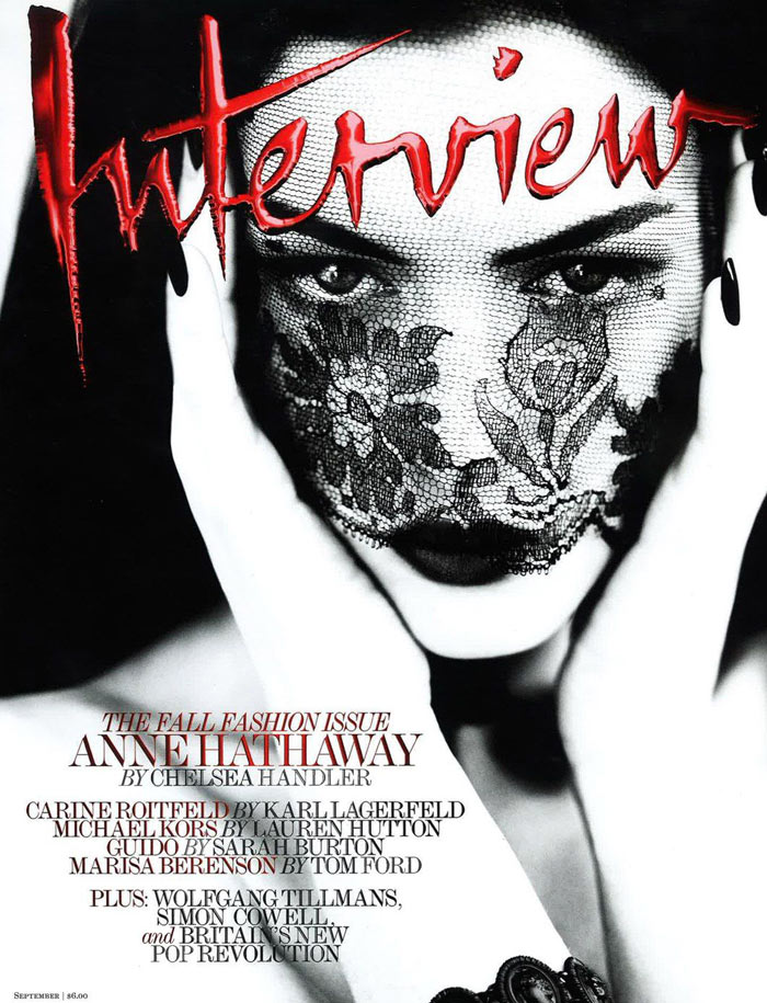 Interview September 2011 Cover | Anne Hathaway by Mert & Marcus