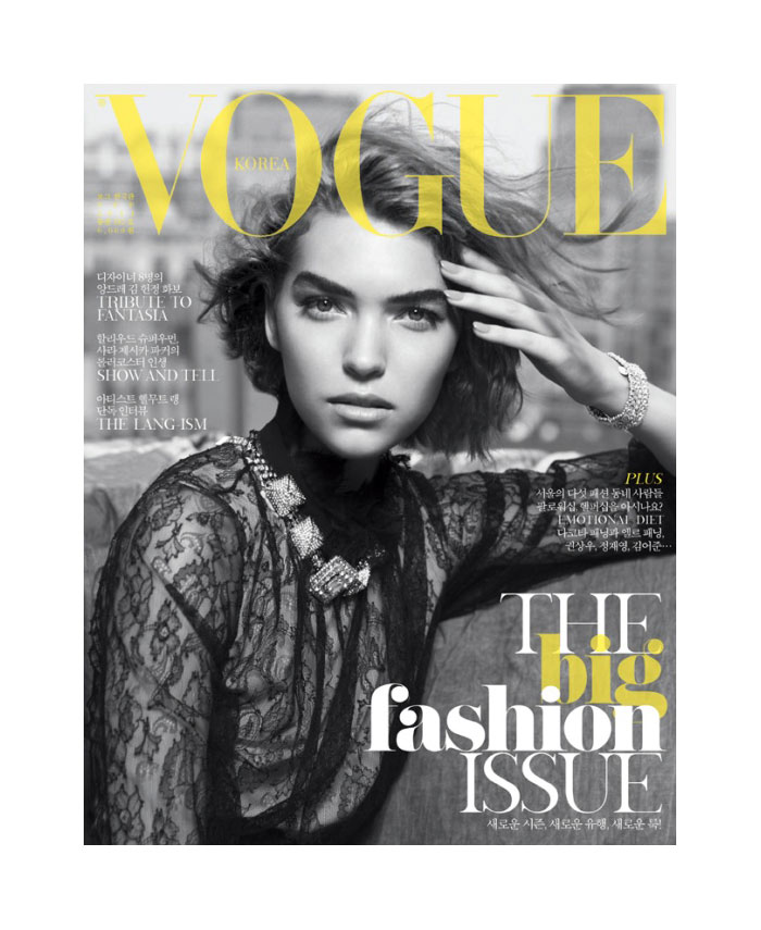 Vogue Korea September 2011 Cover    Arizona Muse by Victor Demarchelier