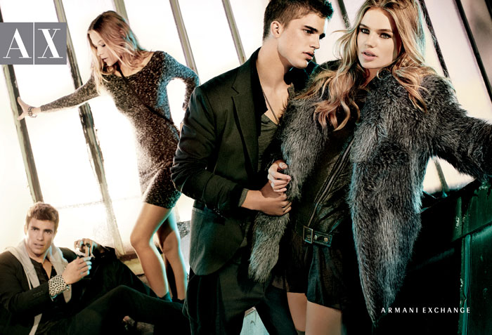 Armani Exchange Fall 2011 Campaign Preview | Milou Sluis & Barbara di Creddo by Matthew Scrivens