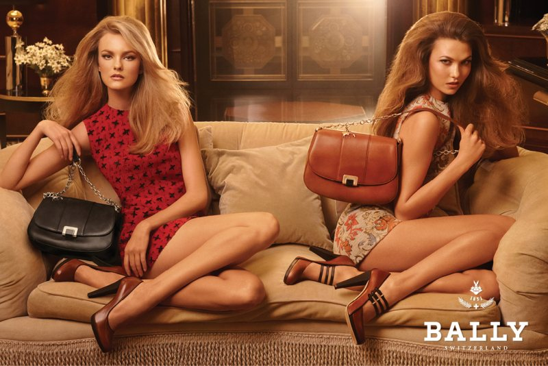 Karlie Kloss joins Caroline Trentini for the fall 2011 campaign from Bally. Photo by Steven Meisel.