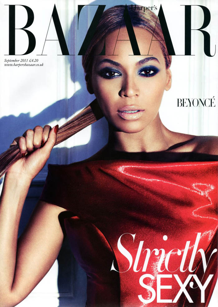 Harper's Bazaar UK September 2011 Cover | Beyoncé by Alexi Lubomirski