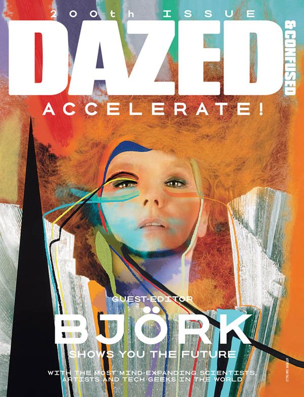 Dazed & Confused August 2011 Cover | Bjork by Sam Falls