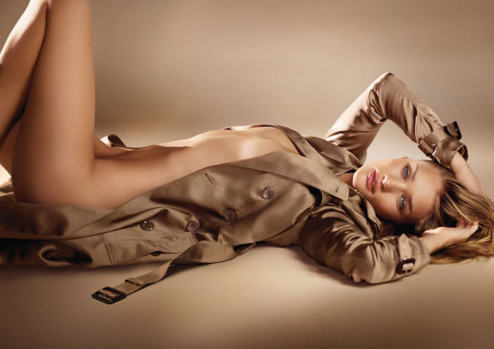 Rosie Huntington-Whiteley for Burberry Body Fragrance Campaign by Mario Testino