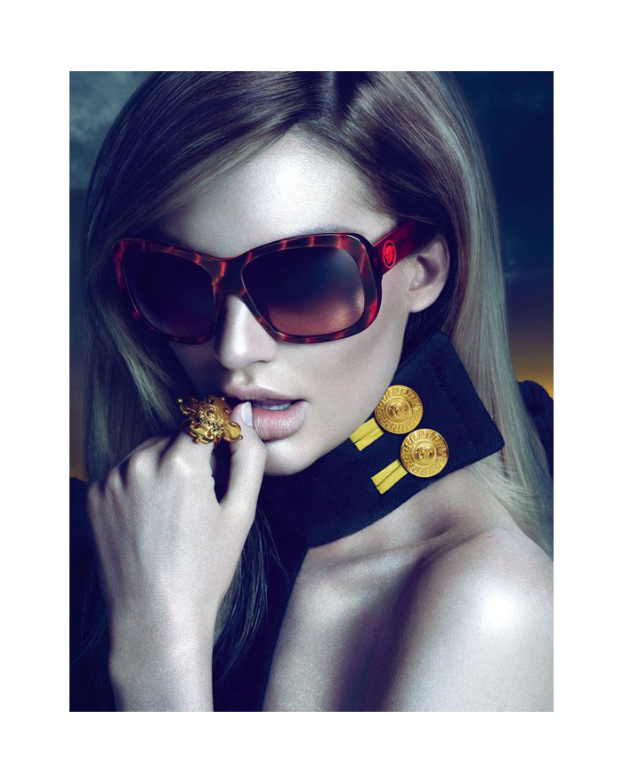 Candice Swanepoel for Versace Eyewear Fall 2011 Campaign