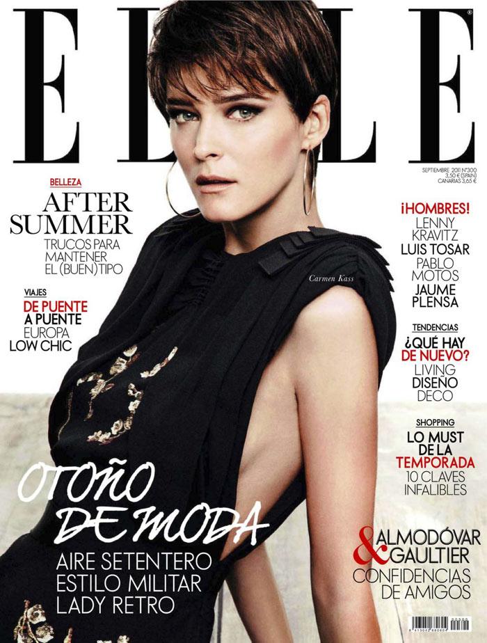 Elle Spain September 2011 Cover | Carmen Kass by Derek Kettela