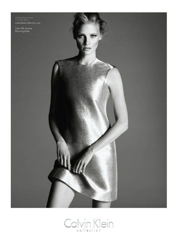 Lara Stone for Calvin Klein Fall 2011 Campaign (Preview)