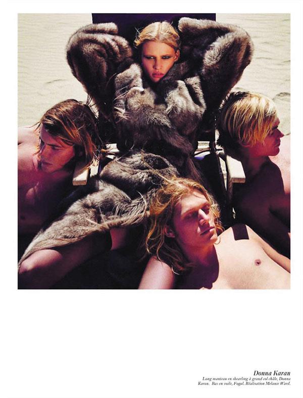Lara Stone, Freja Beha Erichsen, Isabeli Fontana & Others by Inez & Vinoodh for Vogue Paris August 2011