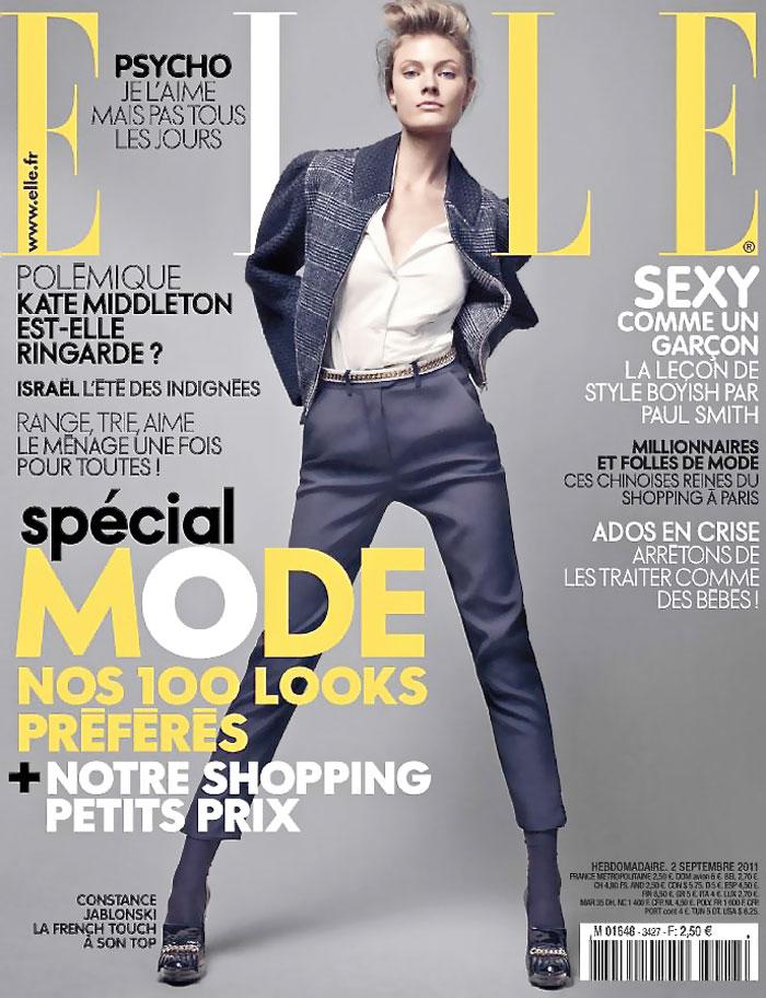 Constance Jablonski Covers Elle France September 2, 2011