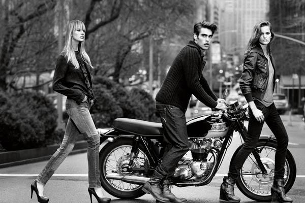 DKNY Jeans Fall 2011 Campaign | Anne Vyalitsyna, Izabel Goulart & Aline Weber by Inez & Vinoodh