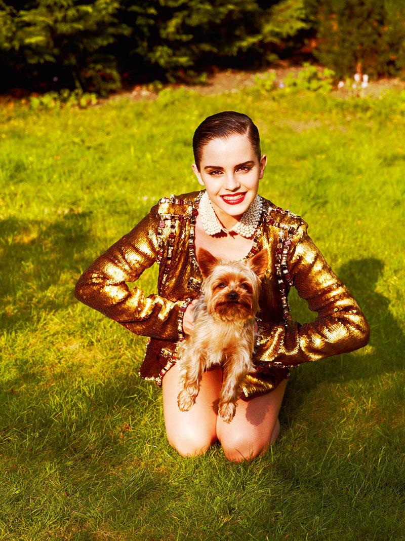 Emma Watson by Mariano Vivanco for i-D Pre-Fall 2011
