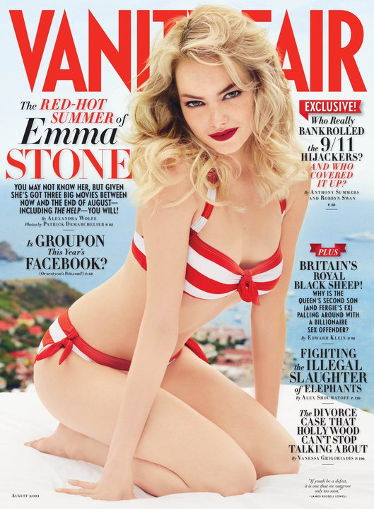 Vanity Fair August 2011 Cover | Emma Stone by Patrick Demarchelier