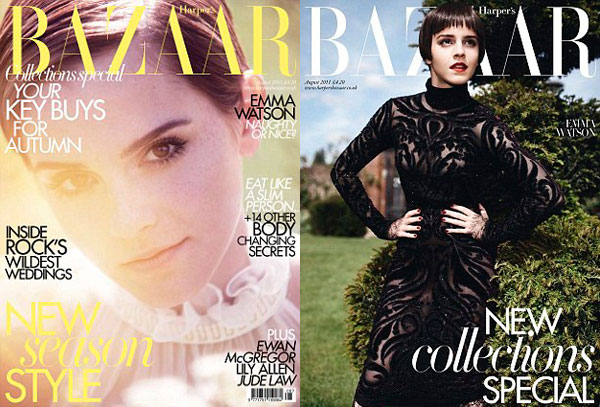 Emma Watson Covers Harper's Bazaar UK August 2011