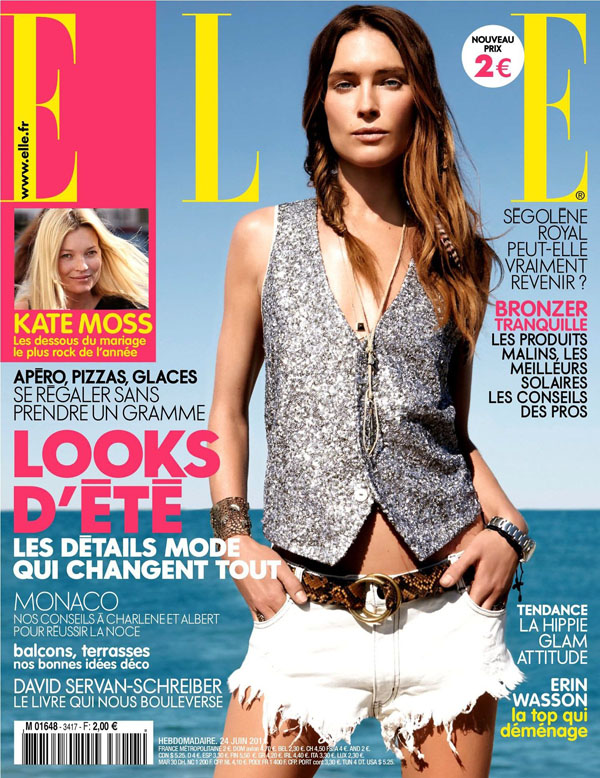 Elle France June 24, 2011 Cover | Erin Wasson by Fred Meylan