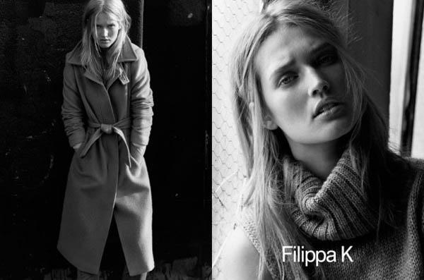 Filippa K Fall 2011 Campaign Preview | Toni Garrn by Alasdair McLellan