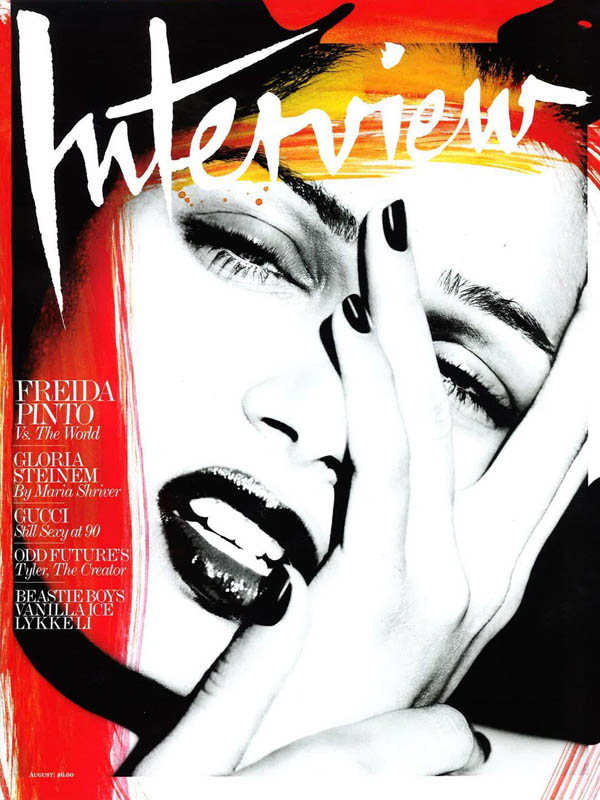 Interview August 2011 Cover | Freida Pinto by Mert & Marcus
