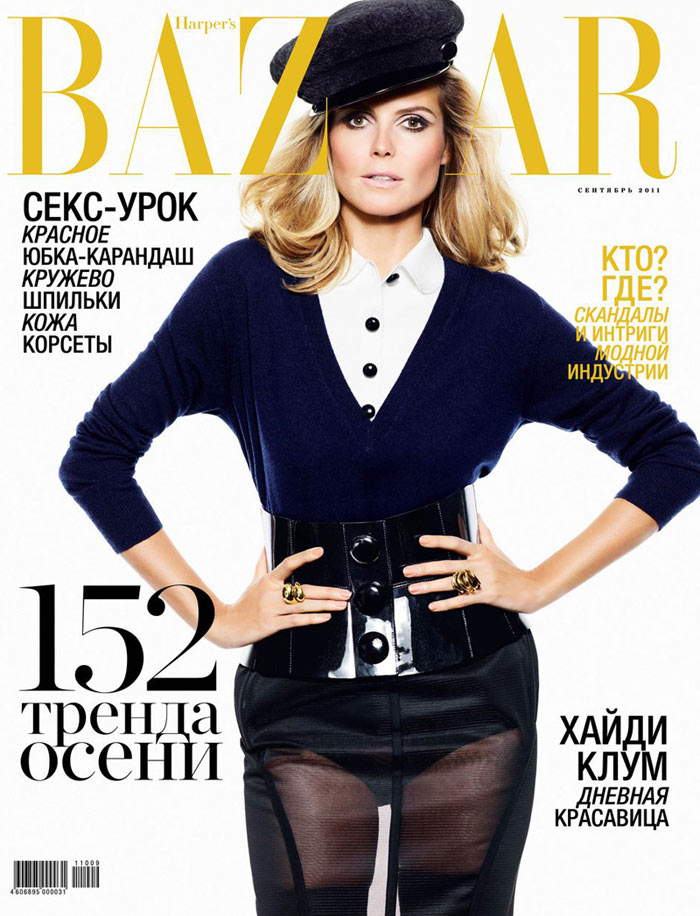 Heidi Klum Covers Harper's Bazaar Russia September 2011