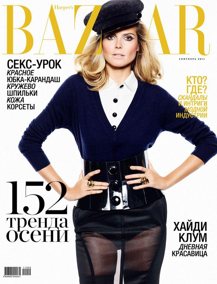 Heidi Klum Covers Harper's Bazaar Russia September 2011
